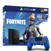 Fortnite Neo Versa PS4 Pro 1TB Bundle with Sony Dualshock 4 Controller - Wave Blue