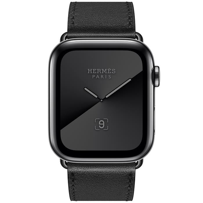 Apple Watch Series 5  - Space Black Stainless Steel - Hermes Single Tour