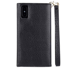 Case-Mate Leather Wristlet Folio Case - iPhone Xs - Black