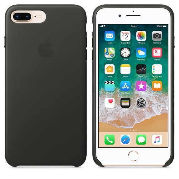 Apple iPhone 7 Plus Leather Case - Charcoal Grey
