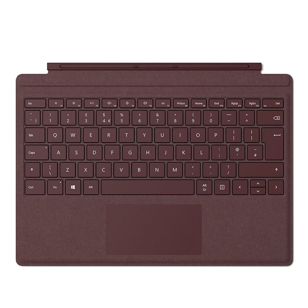 Microsoft Surface Pro Signature Type Cover - Burgundy - UK Layout
