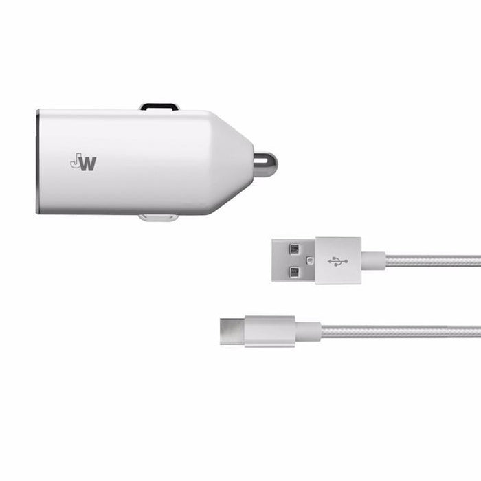 Just Wireless 2.4A USB Type-C Car Charger - Silver