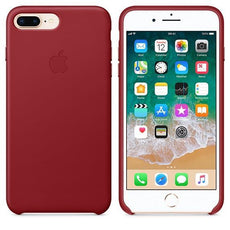 Apple iPhone 7 Plus Leather Case - (PRODUCT)RED