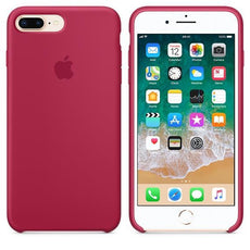 Apple iPhone 8 Plus Silicone Case - Rose Red