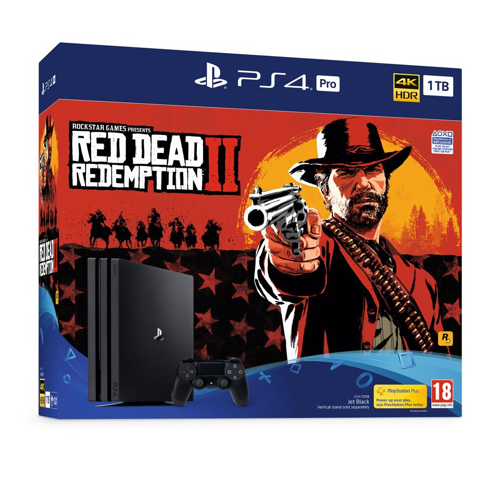 PS4 Pro 1TB Red Dead Redemption 2 Bundle