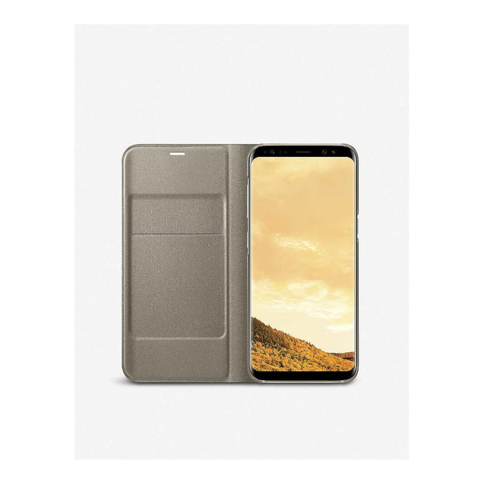 Samsung Galaxy S8 LED Flip Wallet Cover - Gold
