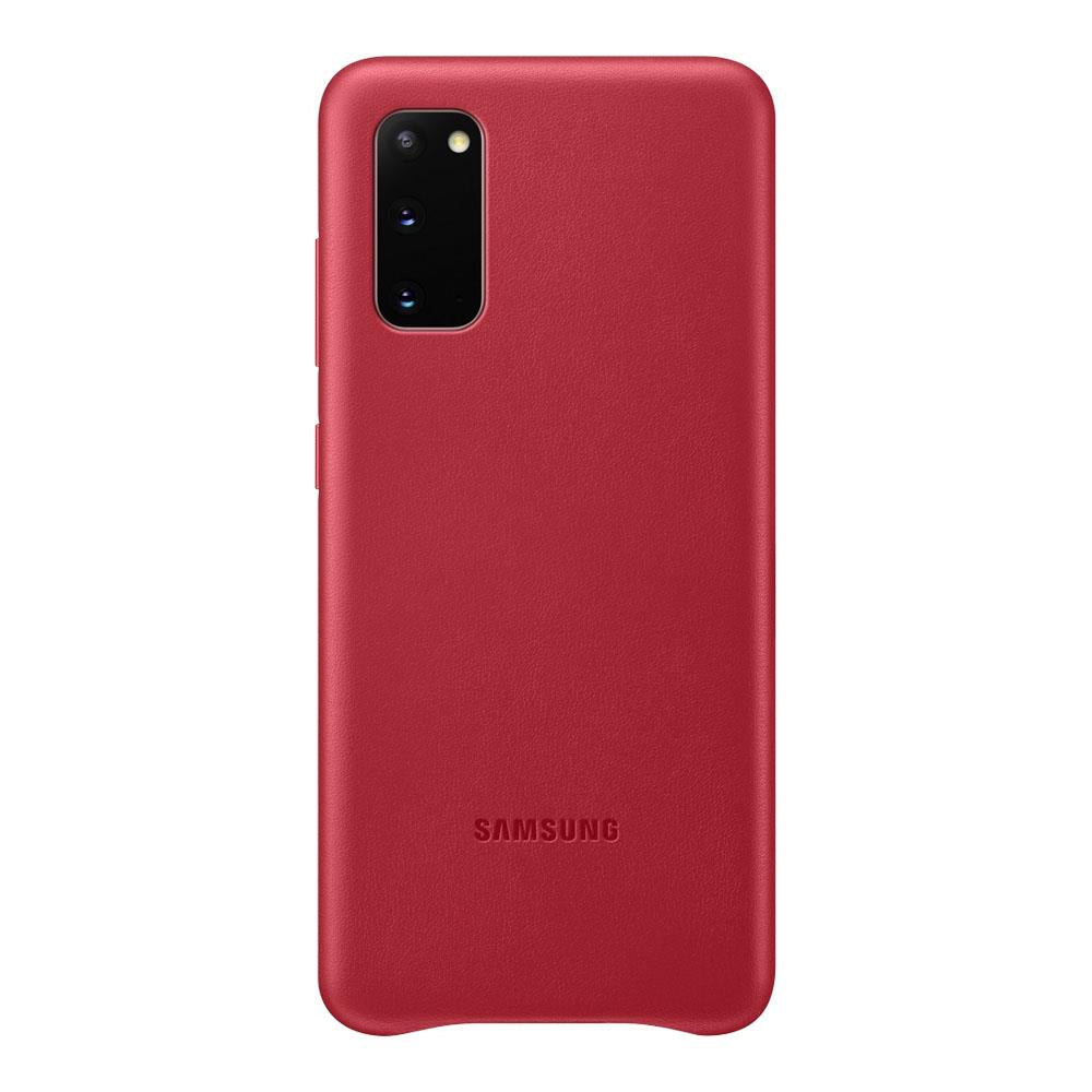 Samsung Galaxy S20 Leather Cover - Red