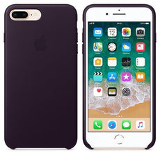 Apple iPhone 8 Plus Leather Case - Dark Aubergine
