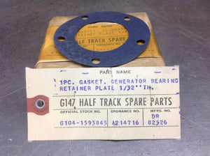 Halftrack Gasket Generator Cover | Delco Remy Part Number DR 82526
