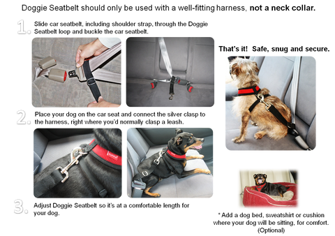 Doggie Seat Belt - Easy Seat belt for Small Dogs