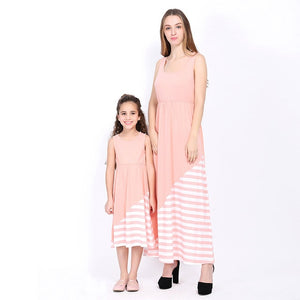 92458ce89d Fancy Family Matching Outfit Loose Mother and Daughter Maxi Dresses ...