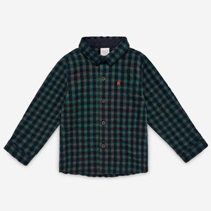 Boy's Pine Green Button Down