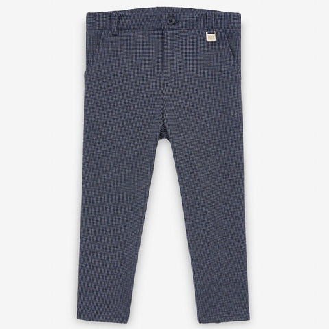 Navy Check Trousers