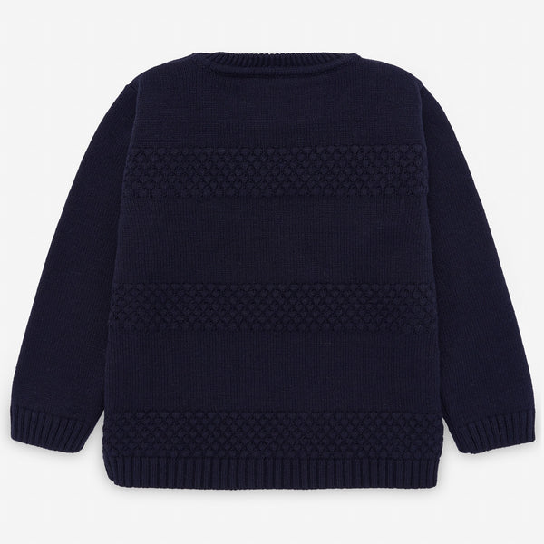 Navy Knit Pullover Sweater