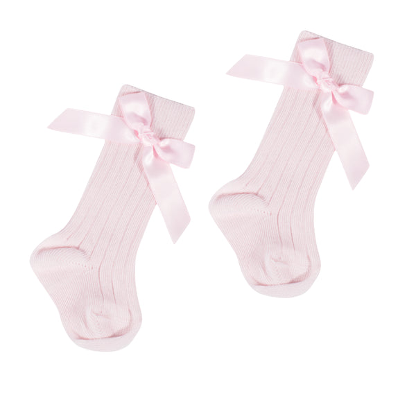 Girls Bow Knee High Socks