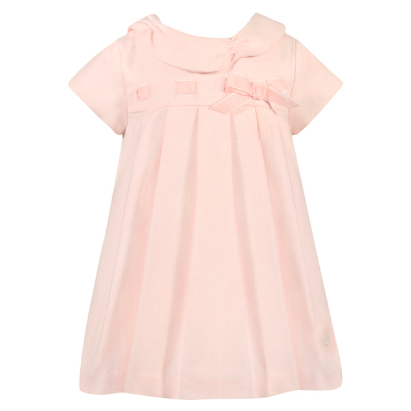 Girl's Pink Woven Dress