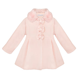 Baby Girl Pink Melange Coat