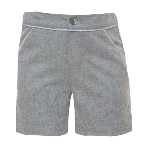 Boy's Grey Flannel Shorts