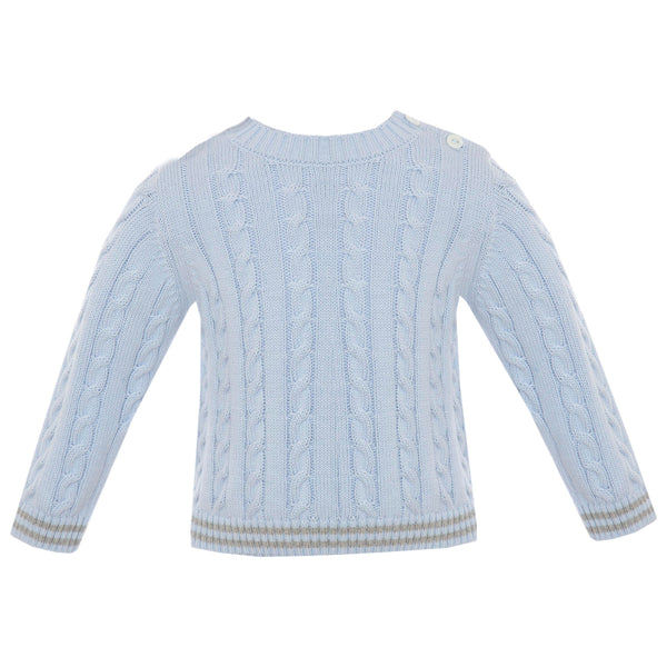 Boy's Blue Cotton Sweater