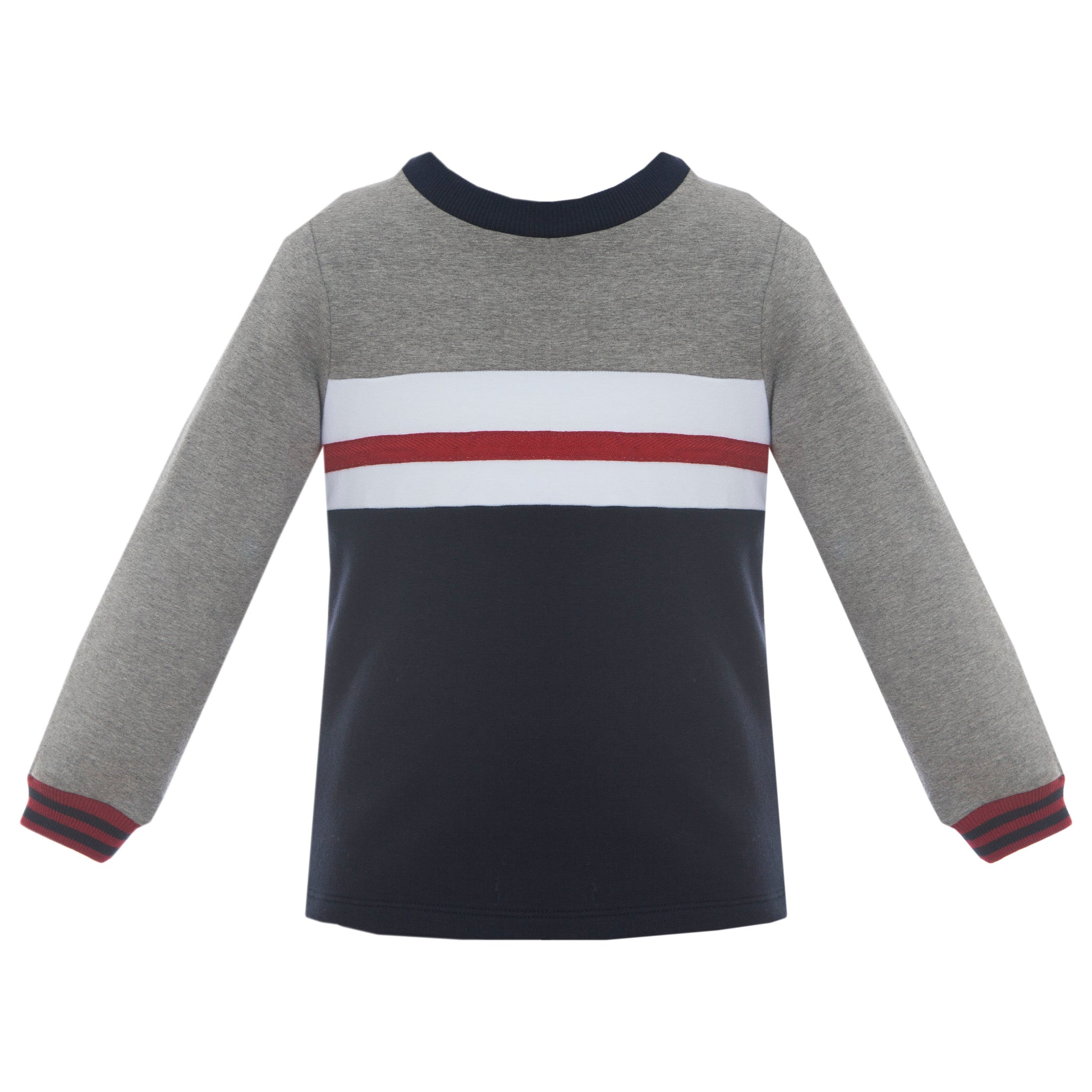 Boy's Knit Stripe Pullover