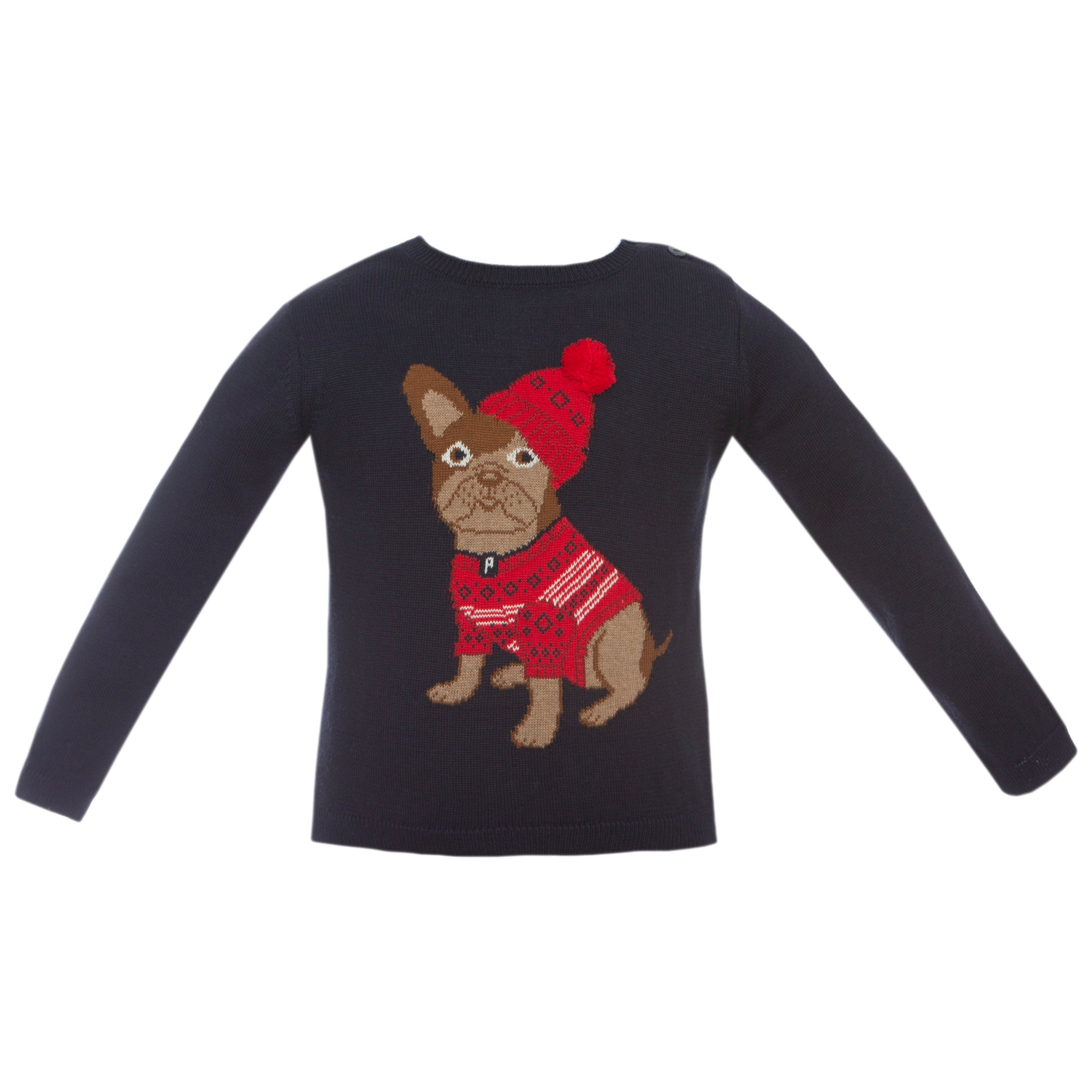 Boy's Holiday Pup Sweater