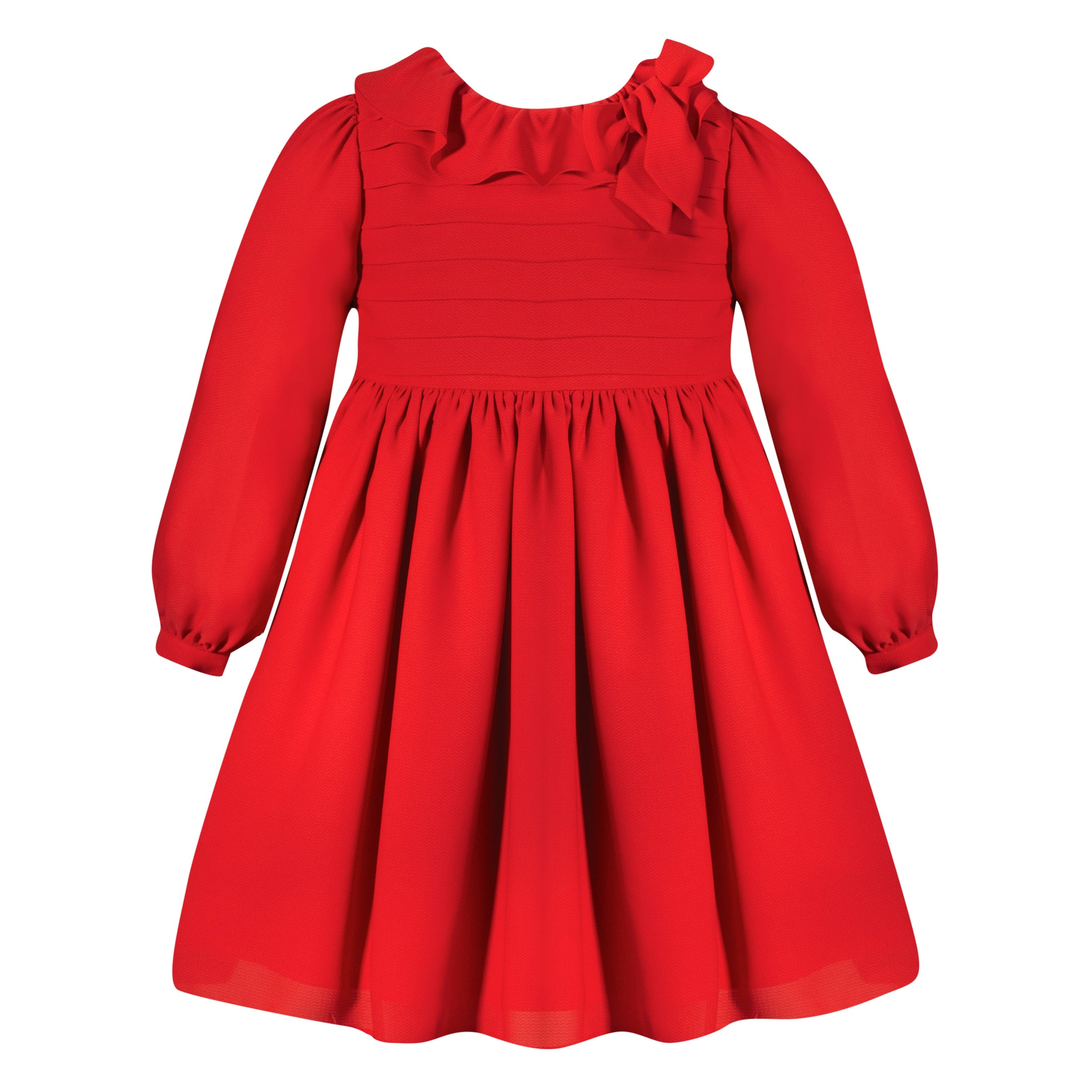 Girl's Red Chiffon Dress