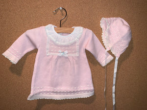 Perseo Knit Dress and Bonnet