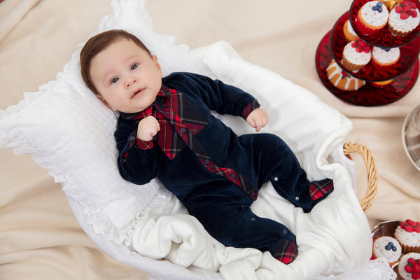 Baby Boy Christmas Playsuit