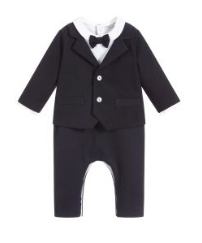 Baby Boy Playsuit with Bow Tie