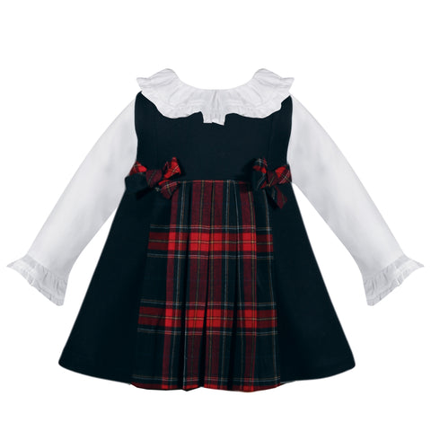 Girl's Tartan Plaid Pinafore