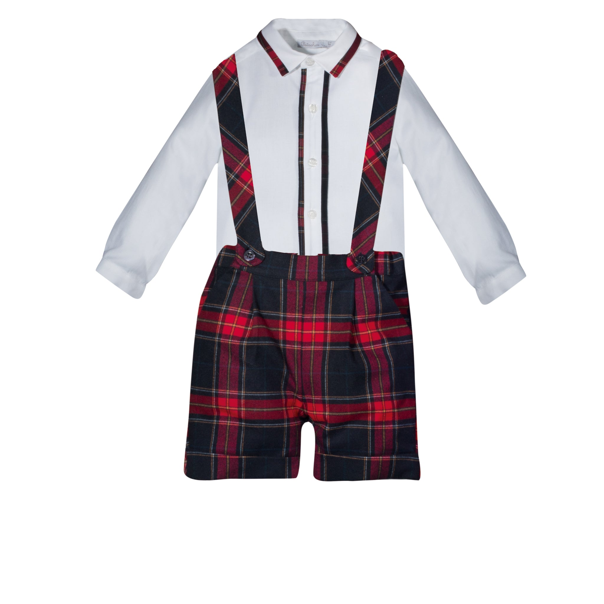 Boy's Tartan Plaid Short Set