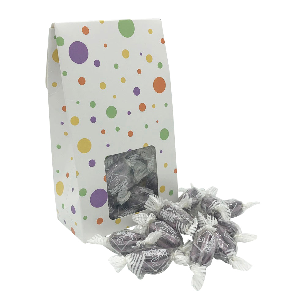 Load image into Gallery viewer, 200g Liquorice and Blackcurrant Sweets Sweet Gift Box