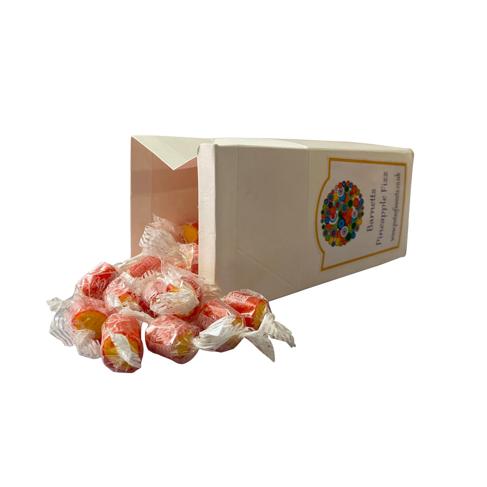 250g Carton of Individually Wrapped Pineapple Fizz Rock Sweet