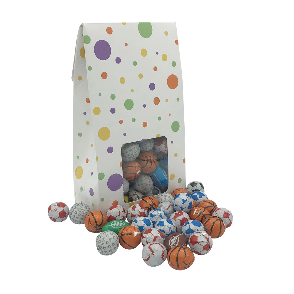 250g Individually Wrapped Chocolate Sports Balls Sweet Gift Box