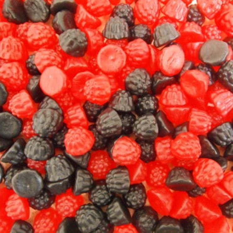 Blackberry and Raspberry Gummy Sweets