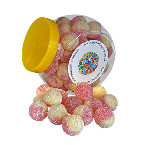Mega Sour Rhubarb & Custard Sweets in Jars