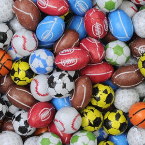 Individually Wrapped Chocolate Sports Balls