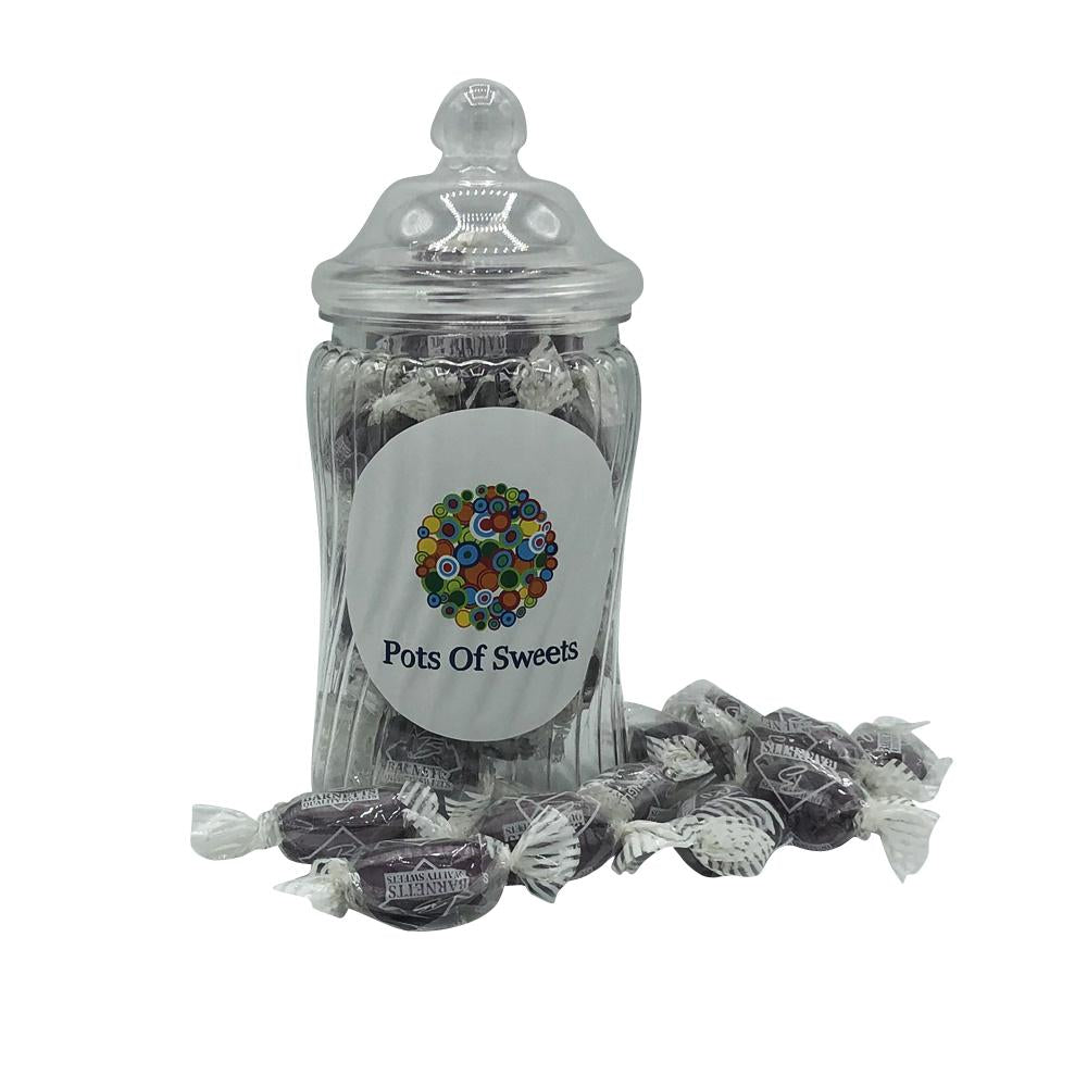 Individually Wrapped Liquorice and Blackcurrant Hard Boiled Sweets