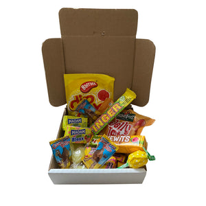 Shades of Yellow 5 inch Pizza Box Sweets Selection
