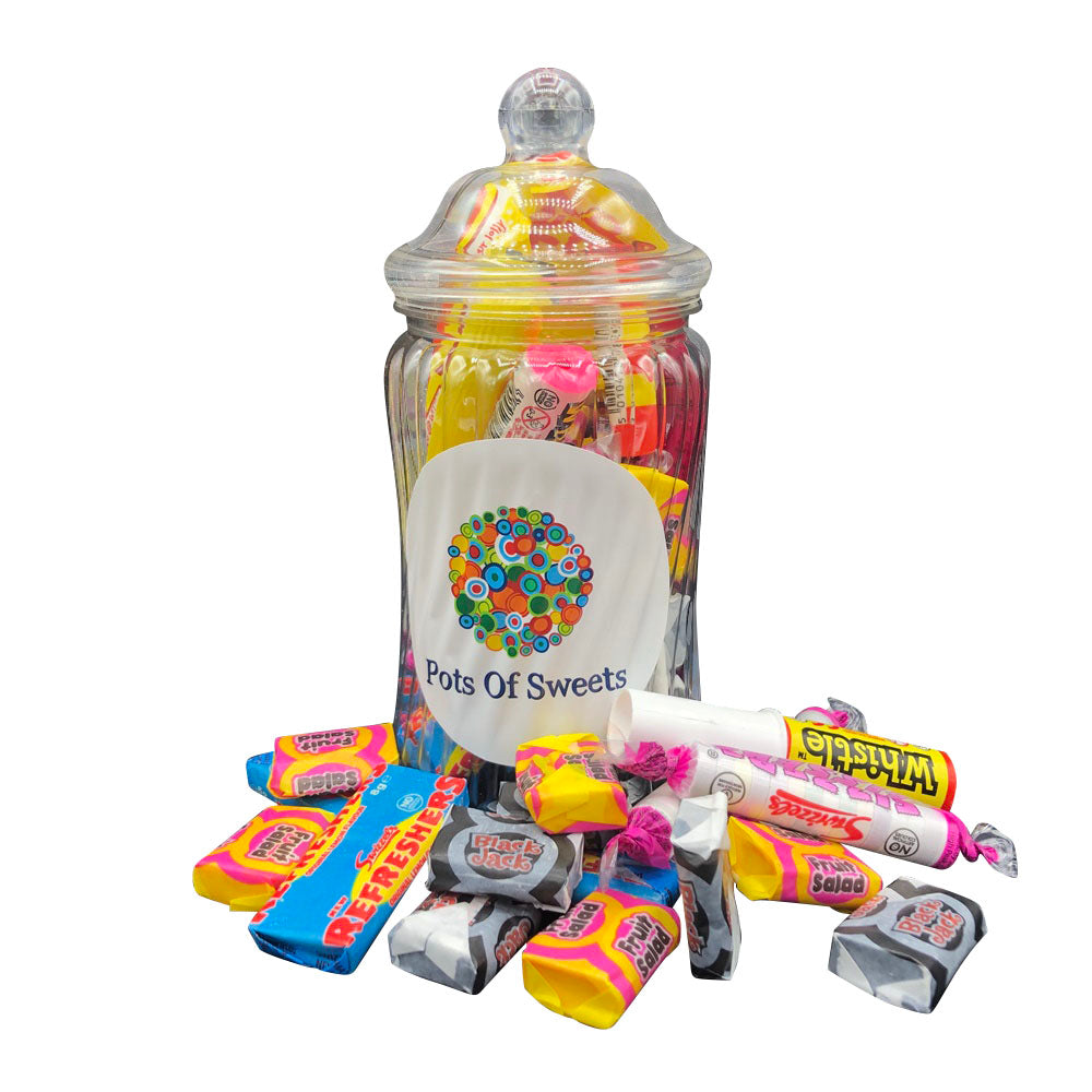 Spiral Jar of Classical Retro Sweets