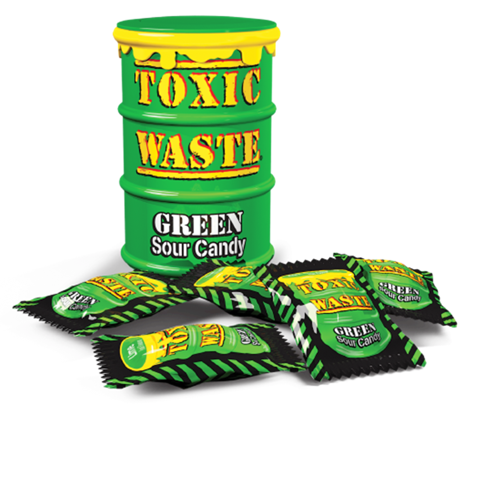 Load image into Gallery viewer, Toxic Waste Hazardously Green Drum Sour Candy