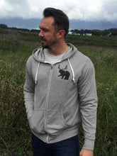 Load image into Gallery viewer, Majestic Zip Hoody - Gray