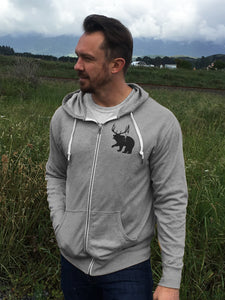 Majestic Zip Hoody - Gray