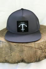 Load image into Gallery viewer, Stay Up hat - 5 panel- Grey UV Mesh