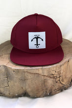 Load image into Gallery viewer, Stay Up hat - 5 panel- Maroon UV Mesh