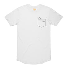 Load image into Gallery viewer, Sukabird scallop pocket tee - White