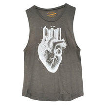 Load image into Gallery viewer, Women's Heart of the City- Grey Festival Muscle Tank