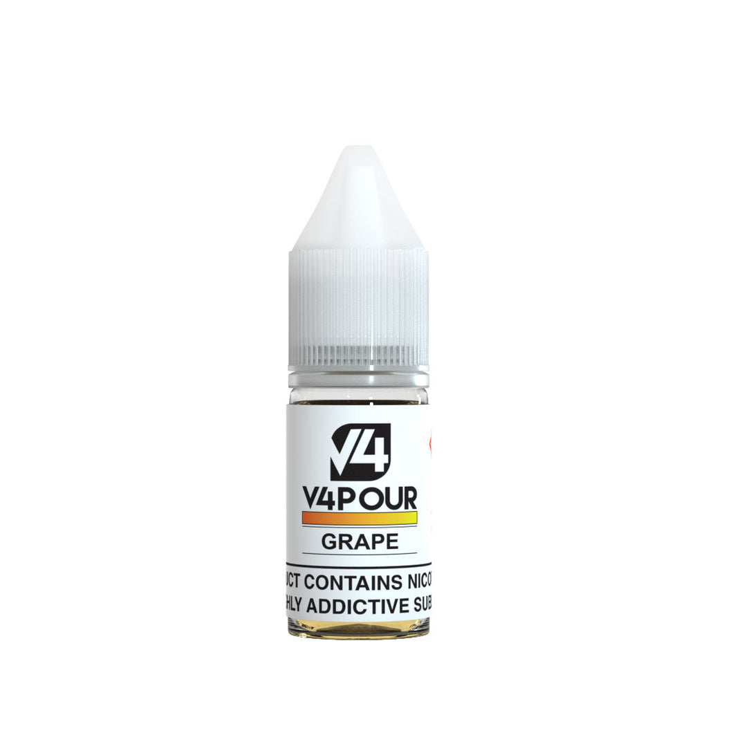 V4 V4POUR E Liquid Grape 10ML - Loony Juice UK