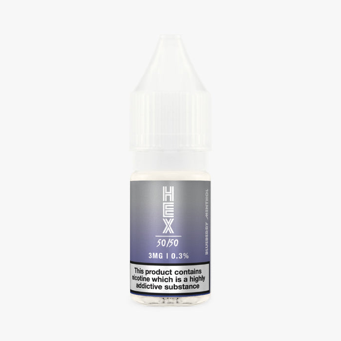 HEX 50/50 - Blueberry Menthol x 3 10ml E-Liquid