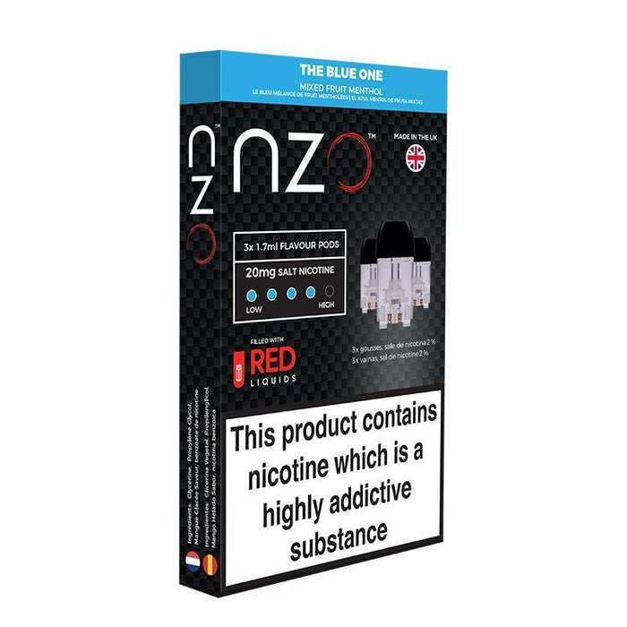 NZO - The Blue One Pre Filled Pods Pack of 3